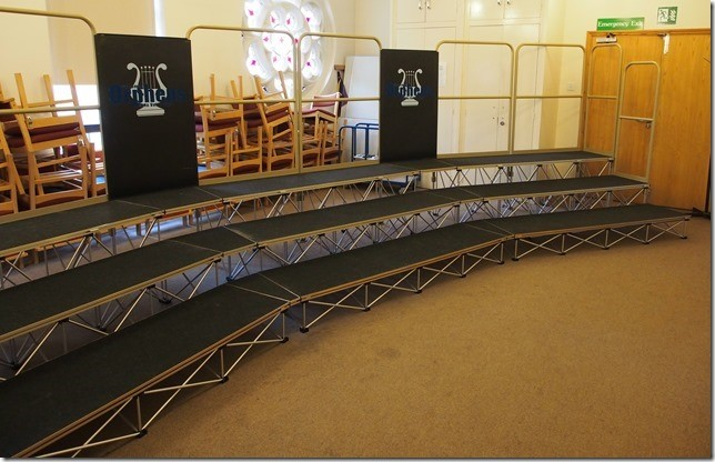 2m stage decks with arc curve