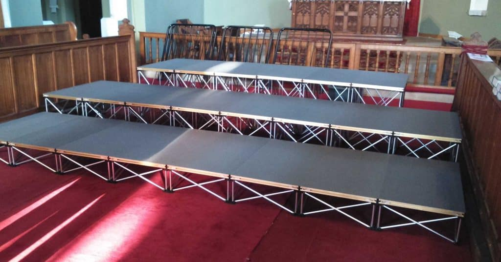 Portable Staging for choir by NexGen