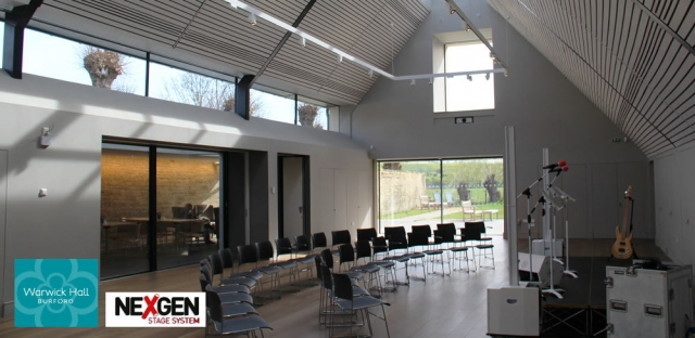 Portable Staging for Community Church Hall in Oxfordshire