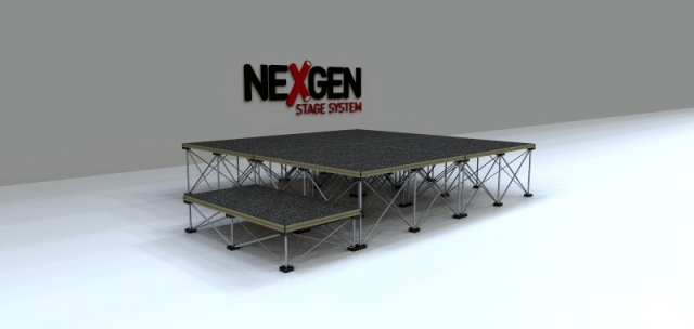 2x2m Portable Staging Package - with Step