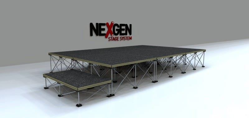 3x2m Portable Staging Package - with Step