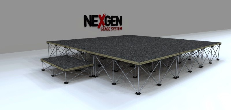 3x3m Portable Staging Package - with Step