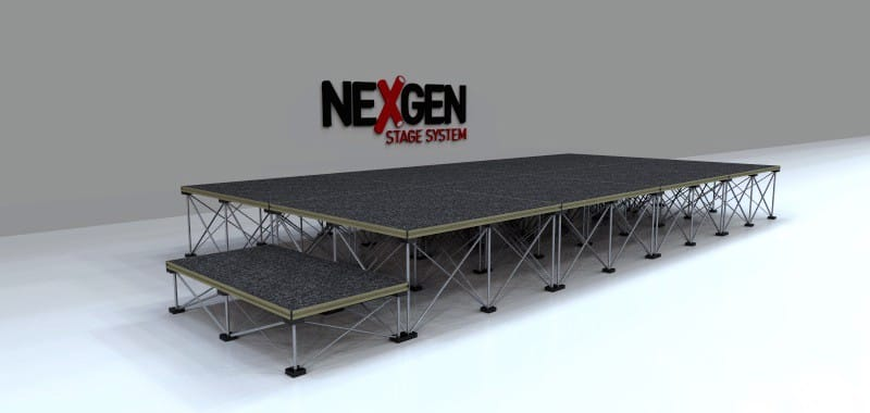4x2m Portable Staging Package - with Step