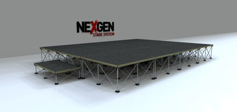 4x3m Portable Staging package
