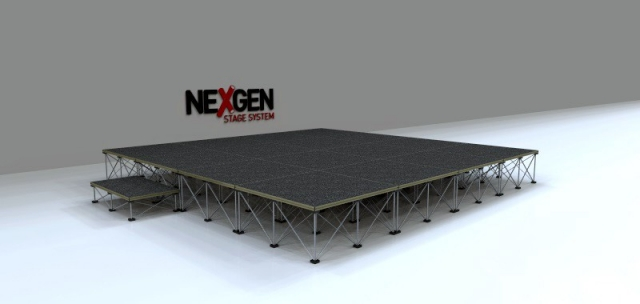 4x4m Portable Staging package