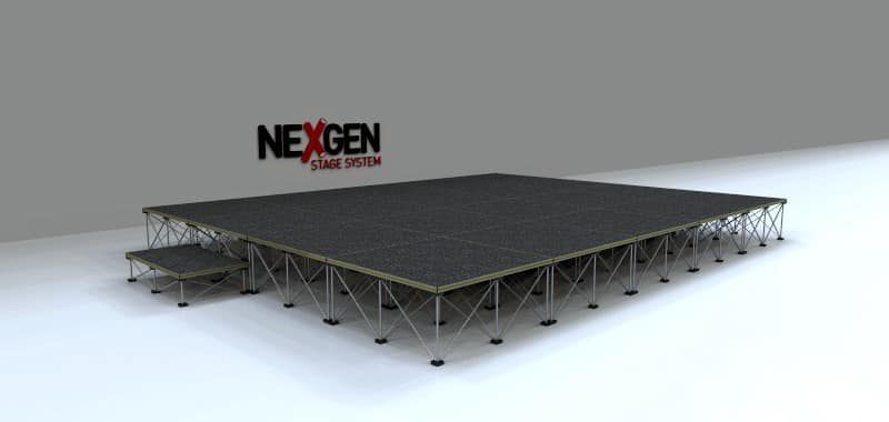 5x4m Portable Staging package