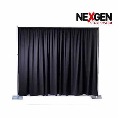 staging backdrop - pipe and drape 6x3m