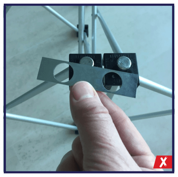 2 hole brace plate for NexGen staging