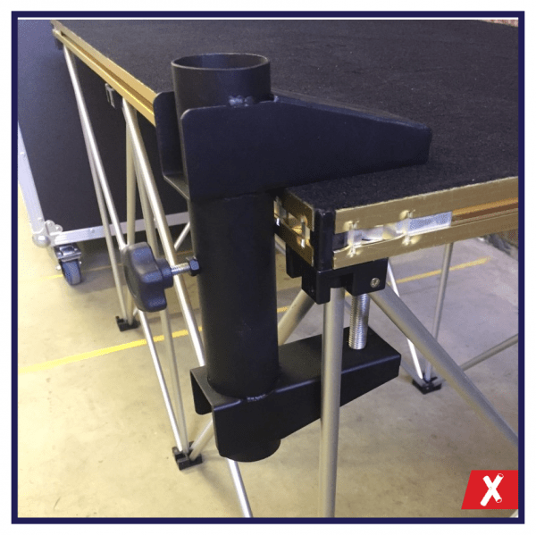 Handrail G Clamp for use on staging