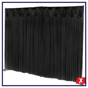 backdrop drape for staging