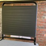 temporary handrail with display canvas