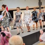 female fashion students on staging